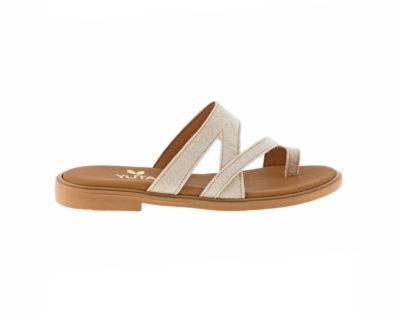 BLUEBELL PINATEX ΛΕΥΚΟ- eco vegan handmade sandal