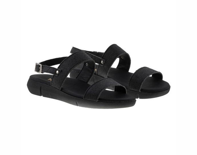 ALDER PINATEX ΜΑΥΡΟ πέδιλο- eco vegan handmade sandal