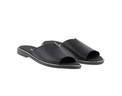 BLOSSOM ΜΑΥΡΟ πέδιλο- eco vegan handmade sandal