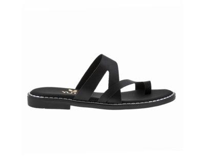 BLUEBELL ΜΑΥΡΟ πέδιλο- eco vegan handmade sandal