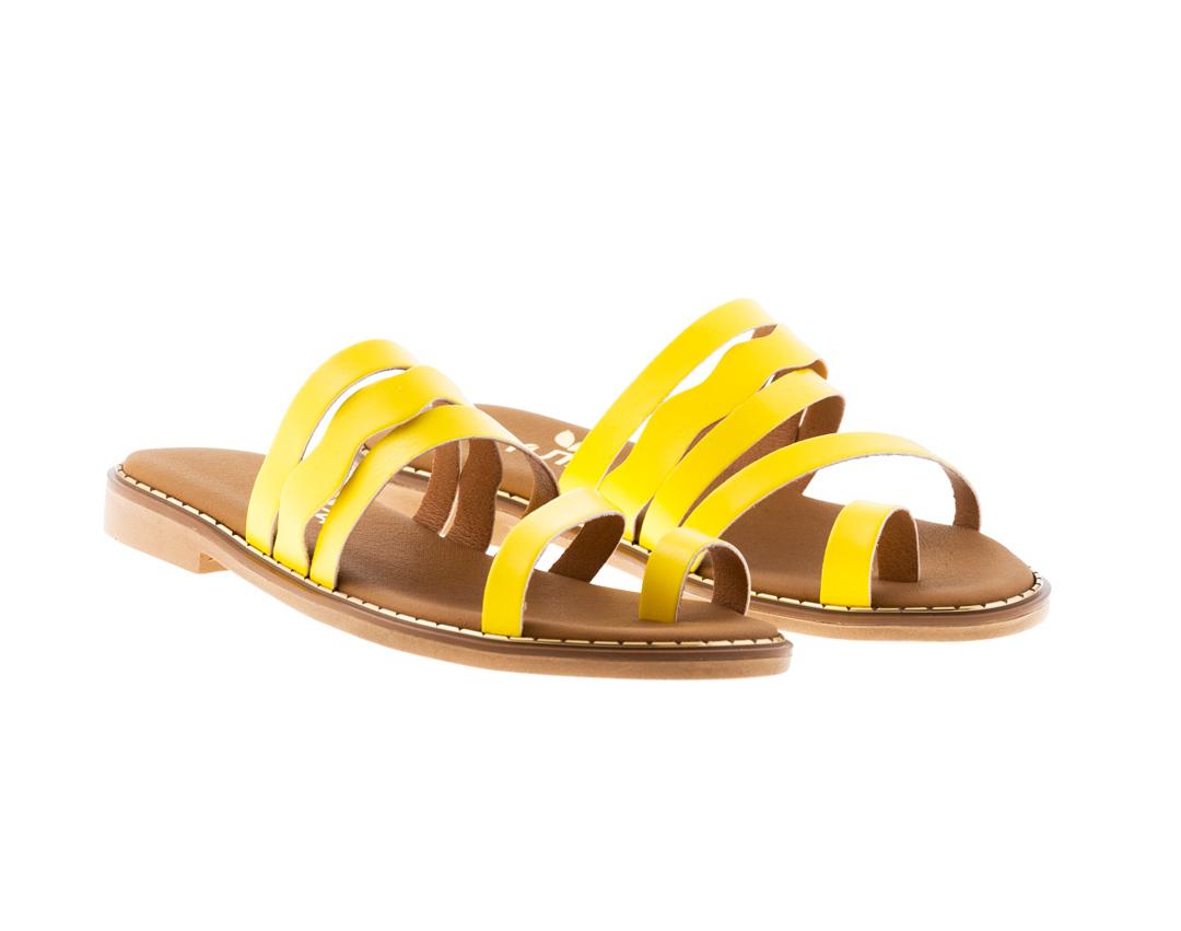 DAISY ΚΙΤΡΙΝΟ πέδιλο- eco vegan handmade sandal