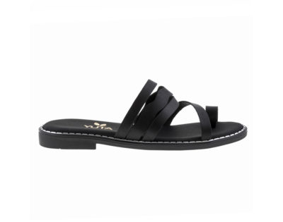 DAISY ΜΑΥΡΟ πέδιλο- eco vegan handmade sandal