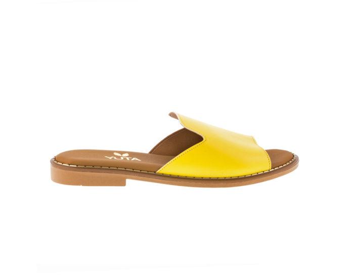 POPLAR ΚΙΤΡΙΝΟ πέδιλο- eco vegan handmade sandal
