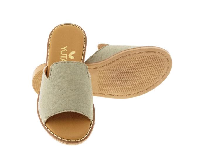 POPLAR PINATEX ΛΑΔΙ πέδιλο- eco vegan handmade sandal