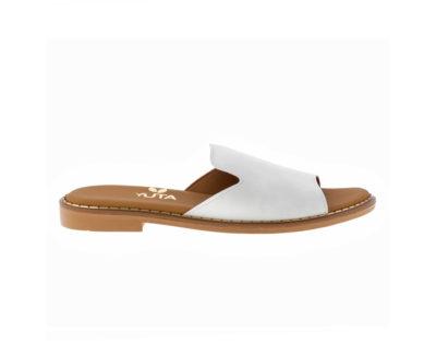 POPLAR ΛΕΥΚΟ πέδιλο- eco vegan handmade sandal