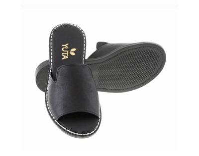 POPLAR ΜΑΥΡΟ πέδιλο- eco vegan handmade sandal