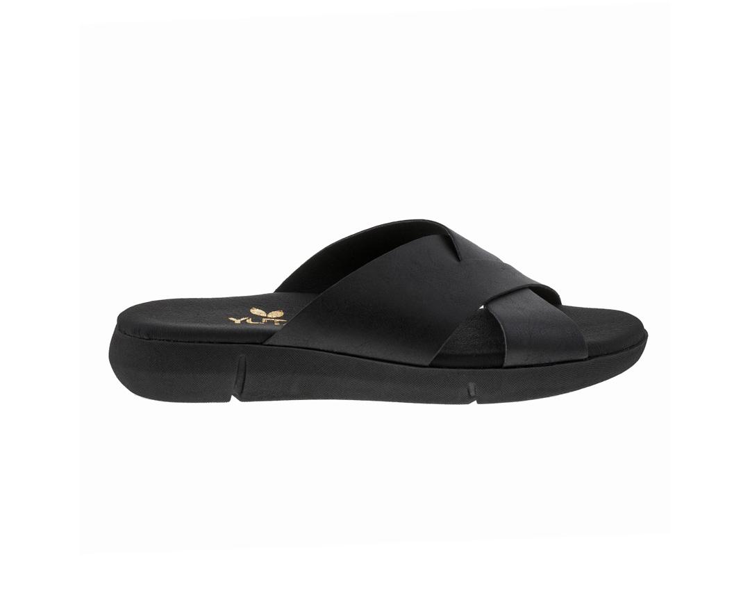 POPPY ΜΑΥΡΟ πέδιλο- eco vegan handmade sandal