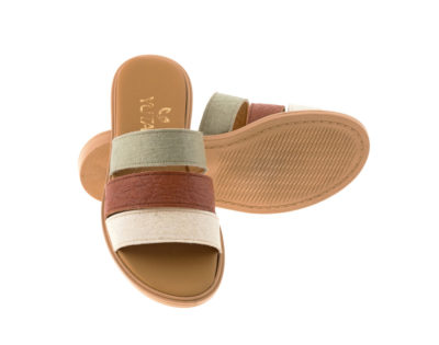 ROSE PINATEX MULTI πέδιλο- eco vegan handmade sandal