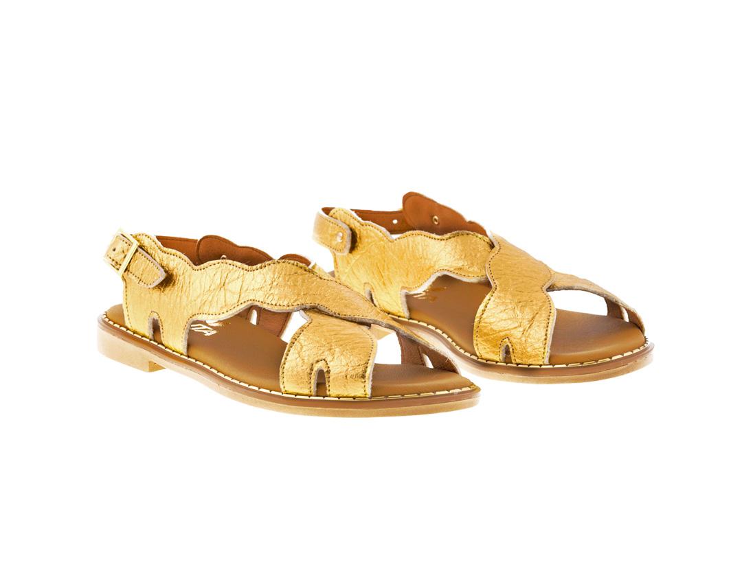 WILLOW PINATEX ΧΡΥΣΟ πέδιλο- eco vegan handmade sandal